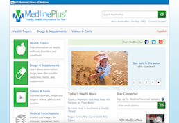 MedlinePlus Screenshot