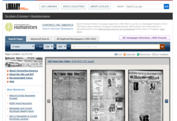 Screenshot of Chronicling America Main Landing Page