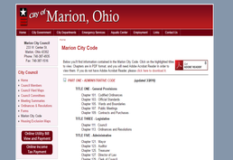 Marion City Code Screenshot