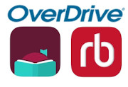 Logos for Overdrive and Libby as well as RB digital
